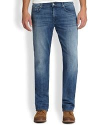 7 For All Mankind Luxe Performance: Carsen Modern Straight-Leg Jeans - Lyst