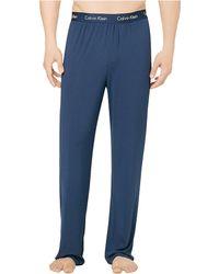 Calvin Klein Blue Pajama Pants - Lyst