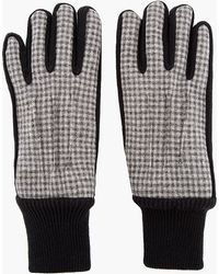 Carven - Grey Gingham Check Knit Gloves - Lyst