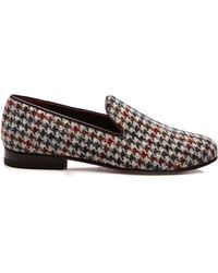 CB Made In Italy - Grey Harrys Tweed Slippers - Lyst