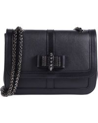 Christian Louboutin Sweet Charity Bow-Detail Leather Flap Bag - Lyst