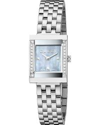 Gucci Gframe Collection Grey Motherofpearl and Stainless Steel Watch Grey - Lyst