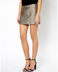 Lazy Oaf Mango Metallic Mini Skirt - Lyst