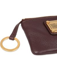 Marc By Marc Jacobs Classic Q Leather Key Pouch - Brown