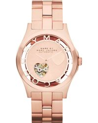 Marc By Marc Jacobs Womens Automatic Rose Goldtone Stainless Steel Bracelet 40mm - Lyst