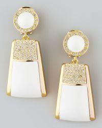 Rachel Zoe - Pave Crystal Drop Clip Earrings - Lyst