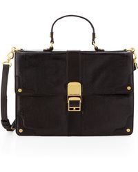 Rebecca Minkoff | Highline Lizardprint Satchel Bag Black | Lyst