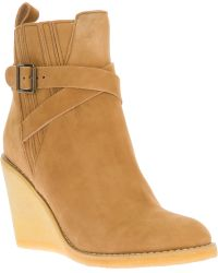 See By Chloé Wedge Ankle Boot - Natural