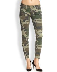 Textile Elizabeth and James Cooper Camouflage Skinny Pants - Lyst