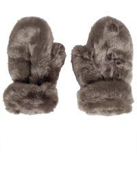TOPSHOP - Lux Fur Mittens - Lyst