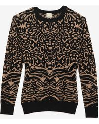 Torn By Ronny Kobo - Oversized Animal Jacquard Sweater - Lyst