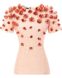 Bibhu Mohapatra Baby Tulip Embellished Top - Lyst