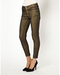 ELEVEN PARIS Daisy Skinny Jeans - Metallic