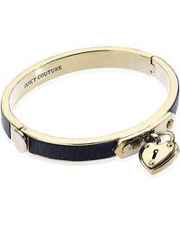 Juicy Couture - Skinny Padlock Leather Bangle - Lyst