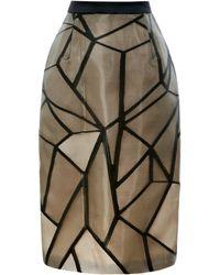 Bibhu Mohapatra Fracture Organza Jacquard Skirt black - Lyst