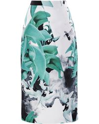 Bibhu Mohapatra Palash Print Twill Pencil Skirt - Lyst