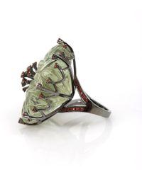 Bochic | Green Amethyst Kiwi Flower Ring | Lyst