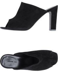 Celine Black Highheeled Sandals - Lyst