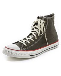 Converse Chuck Taylor Washed High Top Sneakers - Lyst