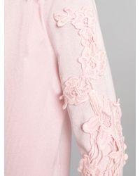 Pussycat | Crochet Sleeve Knitted Cardigan | Lyst