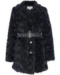 Quiz Black Rose Faux Fur Coat