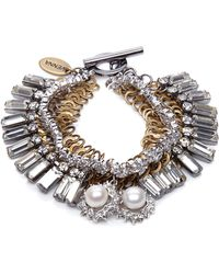 Venna - Mixed-Shape Swarovski Crystal Bracelet - Lyst