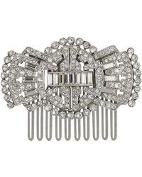 Ben-Amun - Art Deco Swarovski Crystal Embellished Hair Clip - Lyst