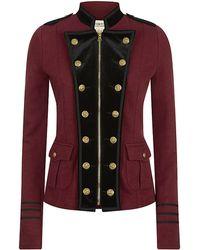 Denim & Supply Ralph Lauren Military Jacket with Velvet Trims - Purple