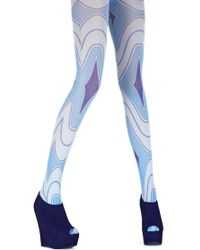 House of Holland - Rave Wave Tights Blue - Lyst
