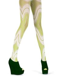 House of Holland - Rave Wave Tights Green - Lyst