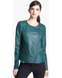 Trouvé  Leather Moto Jacket - Lyst