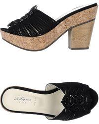 Blue Les Copains Platform Sandals - Black