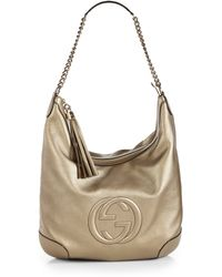 Gucci Soho Metallic Leather Chain Shoulder Bag - Lyst
