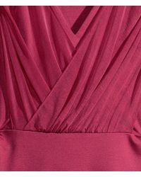 H&M Draped Dress - Lyst
