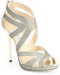 Jimmy Choo Collar Glitter LamÉ Platform Sandals - Lyst