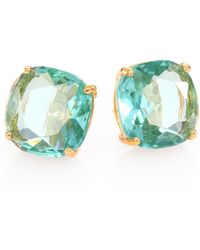 Kate Spade Faceted Square Stud Earrings - Lyst