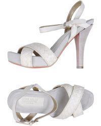 Lena Milos Platform Sandals - Lyst