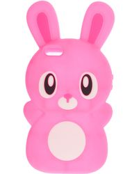 ASOS Jelly Rabbit Iphone 5 Case - Pink