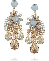 Bijoux Heart - Forget Me Not Goldplated Swarovski Crystal Earrings - Lyst