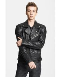 BLK DNM 'Leather Jacket 31' Leather Moto Jacket - Lyst