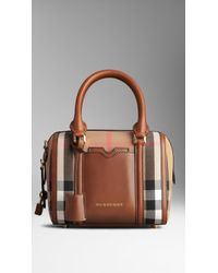 Burberry The Small Alchester In House Check And Leather - Lyst