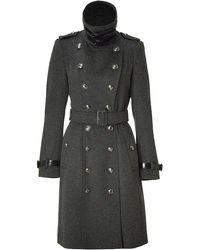Burberry Dark Charcoal Heather Woolcashmere Duncannon Coat - Lyst
