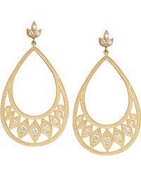 Jamie Wolf Engraved Diamond Leaf Earrings Pii7gpvQar