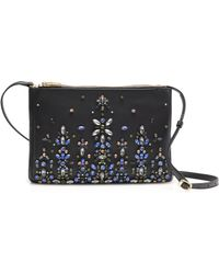 J.Crew Collection Jeweled Convertible Clutch - Blue