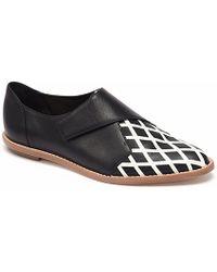 Loeffler Randall Woman Leather Wedge Brogues Black Size 10.5 Loeffler Randall Low Price Online Countdown Package Up6krIN