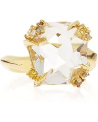 Alexis Bittar Fine - 18K Gold Diamond-Prong Ice Quartz Ring - Lyst