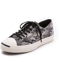 converse jack purcell gray 05g4  Converse  Jack Purcell Camo Sneakers  Lyst