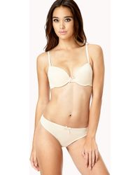 Forever 21 Everyday Classic Bra Set - Natural