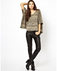 Free People Stretch Vegan Leather Pants - Lyst