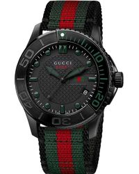 Gucci Gtimeless Collection Steel Watch Black - Lyst